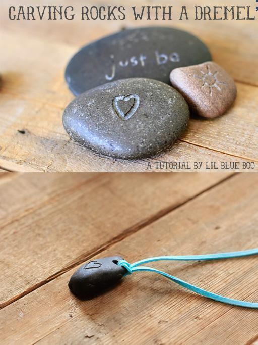 How to carve designs and words in rocks with a Dre..